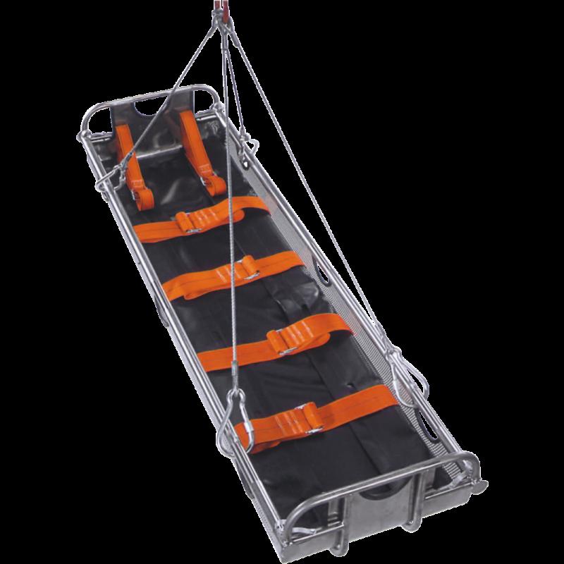 ultraMINING mit Rettungs-Umbettungstuch u. Vakuum-Matratze