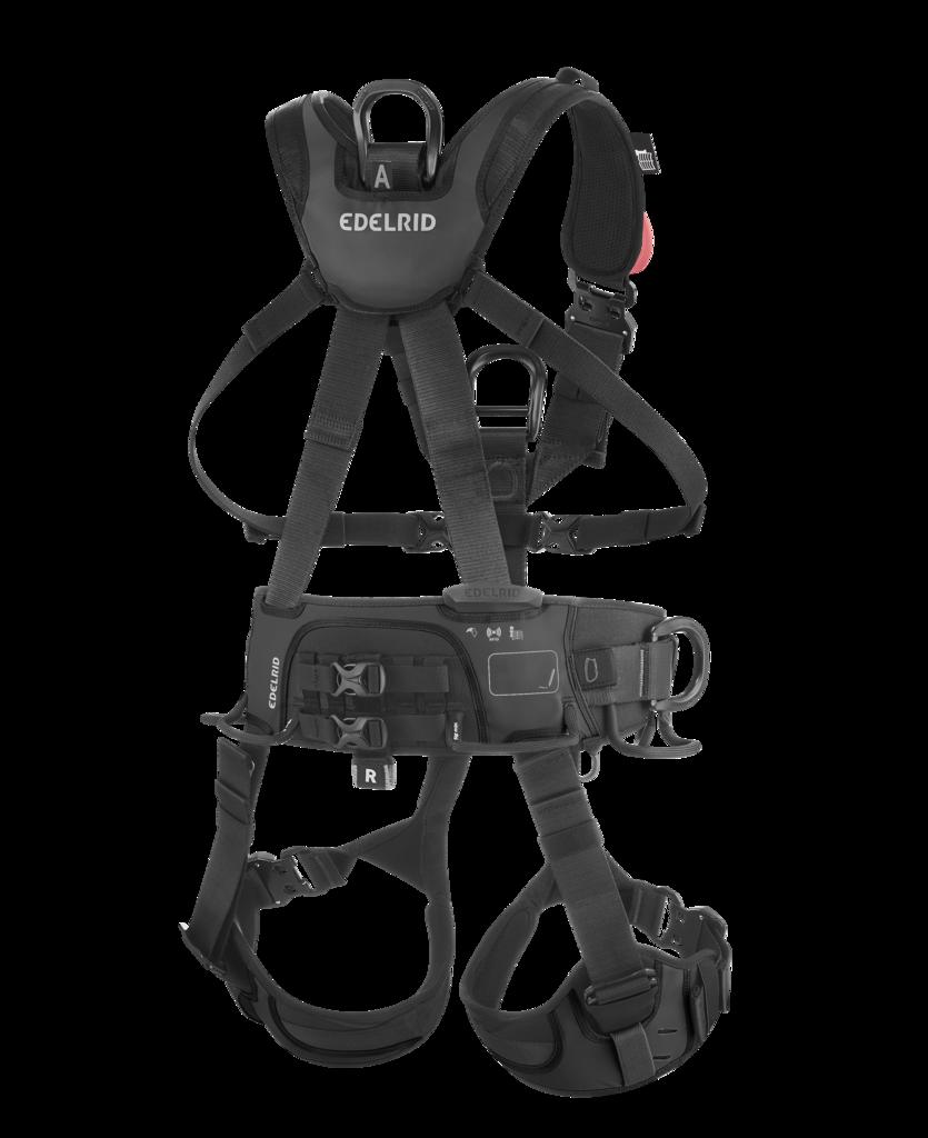 Edelrid Seilzugangsgurt Vertic Triple Lock / Black